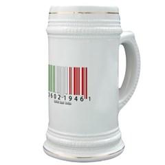 Barcode Italian Flag Stein