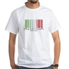 Barcode Italian Flag White T-Shirt
