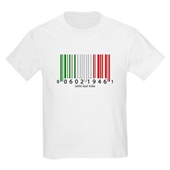Barcode Italian Flag Youth T-Shirt by Hanes