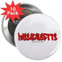 "Massachusetts Graffiti 2.25"" Button (10 pack)"