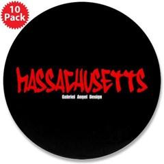 """Massachusetts Graffiti 3.5"""" Buttons (10 pack)"""