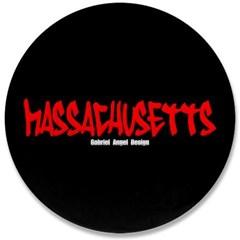 "Massachusetts Graffiti 3.5"" Button"