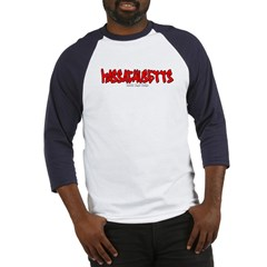 Massachusetts Graffiti Baseball Jersey T-Shirt