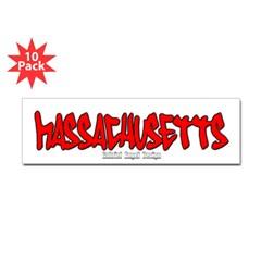 Massachusetts Graffiti Bumper Sticker 10 pk
