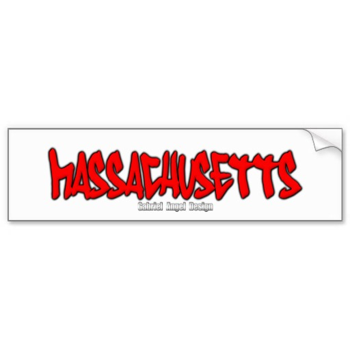 Massachusetts Graffiti Bumper Sticker