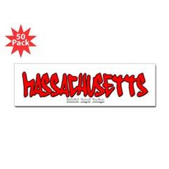 Massachusetts Graffiti Bumper Sticker 50 pk
