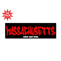 Massachusetts Graffiti Bumper Stickers 50 Pack