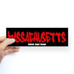 Massachusetts Graffiti Bumper Sticker