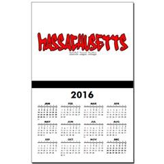 Massachusetts Graffiti Calendar Print