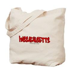 Massachusetts Graffiti Canvas Tote Bag
