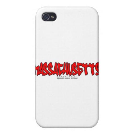 Massachusetts Graffiti Case Savvy iPhone 4 Matte Finish Case