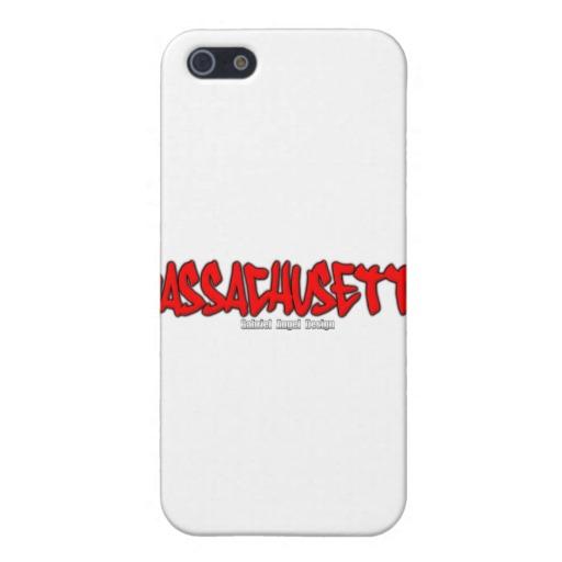 Massachusetts Graffiti Case Savvy Matte Finish iPhone 5/5S Case
