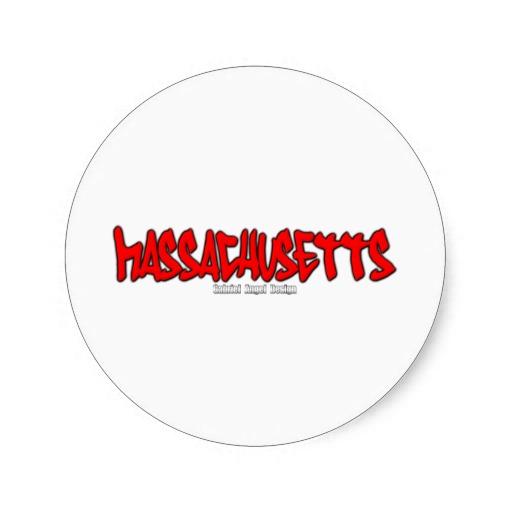 Massachusetts Graffiti Classic Round Sticker