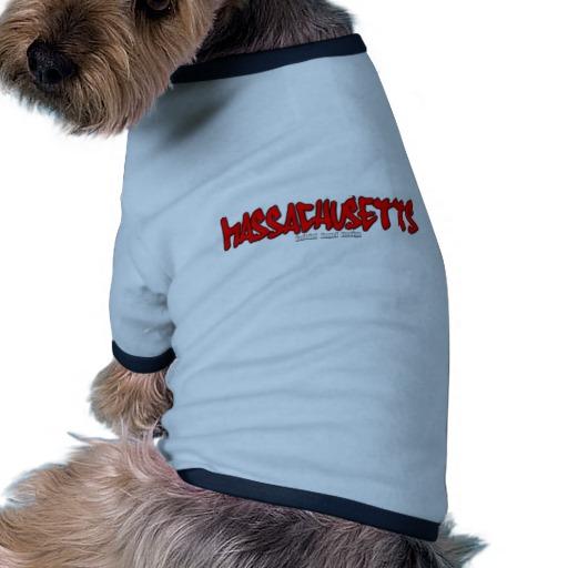 Massachusetts Graffiti Doggie Ringer T-Shirt