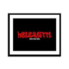 Massachusetts Graffiti Framed Panel Print