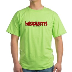 Massachusetts Graffiti Green T-Shirt