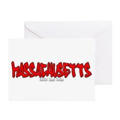 Massachusetts Graffiti Greeting Cards (Pk of 10)