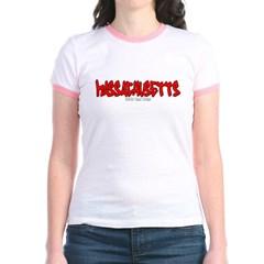 Massachusetts Graffiti Junior Ringer T-Shirt