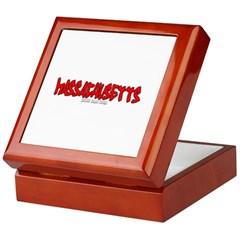 Massachusetts Graffiti Keepsake Box