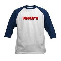 Massachusetts Graffiti Kids Baseball Jersey T-Shirt