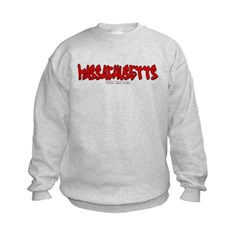 Massachusetts Graffiti Kids Crewneck Sweatshirt by Hanes