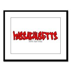 Massachusetts Graffiti Large Framed Print