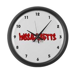 Massachusetts Graffiti Large Wall Clock