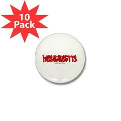 Massachusetts Graffiti Mini Button (10 pack)
