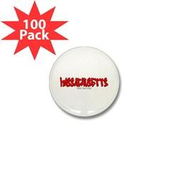 Massachusetts Graffiti Mini Button (100 pack)