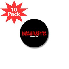 Massachusetts Graffiti Mini Button (10 pack)