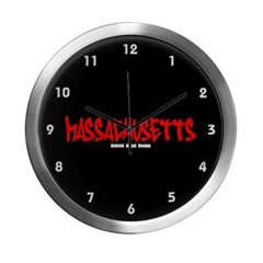 Massachusetts Graffiti Modern Wall Clock