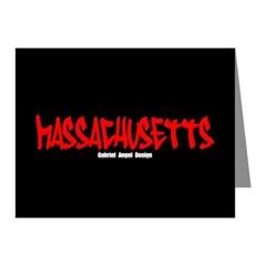 Massachusetts Graffiti Note Cards (Pack of 10)