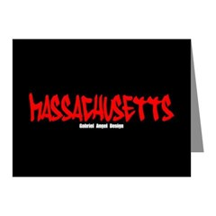 Massachusetts Graffiti Note Cards (Pk of 20)