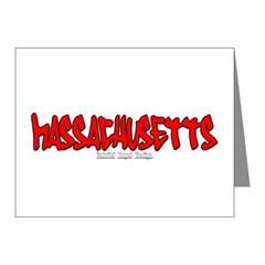 Massachusetts Graffiti Note Cards (Pk of 20)