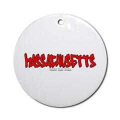 Massachusetts Graffiti Ornament (Round)