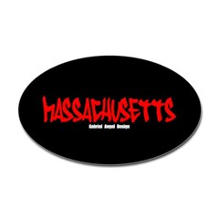 Massachusetts Graffiti Oval Decals