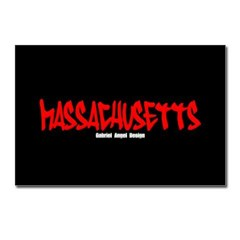Massachusetts Graffiti Postcards (Pack of 8)