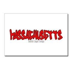 Massachusetts Graffiti Postcards (Package of 8)