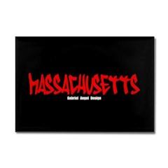 Massachusetts Graffiti Rectangle Magnet