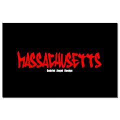 Massachusetts Graffiti Small Poster