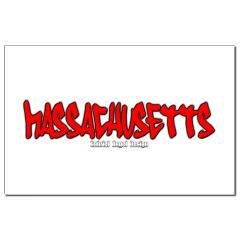 Massachusetts Graffiti Small Posters