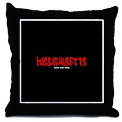 Massachusetts Graffiti Throw Pillow