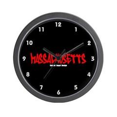 Massachusetts Graffiti Wall Clock
