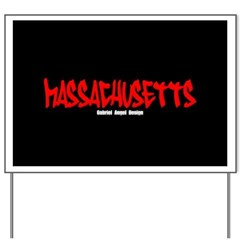 Massachusetts Graffiti Yard Sign