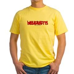 Massachusetts Graffiti Yellow T-Shirt