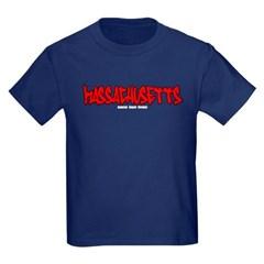 Massachusetts Graffiti Youth Dark T-Shirt by Hanes