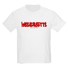 Massachusetts Graffiti Youth T-Shirt by Hanes