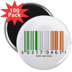 """Barcode Irish Flag 2.25"""" Magnet (100 pack)"""