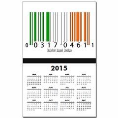 Barcode Irish Flag Calendar Print