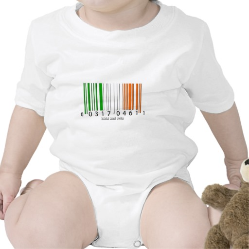 Barcode Irish Flag Infant Creeper